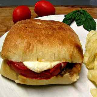 Grilled Caprese Chicken Sandwich