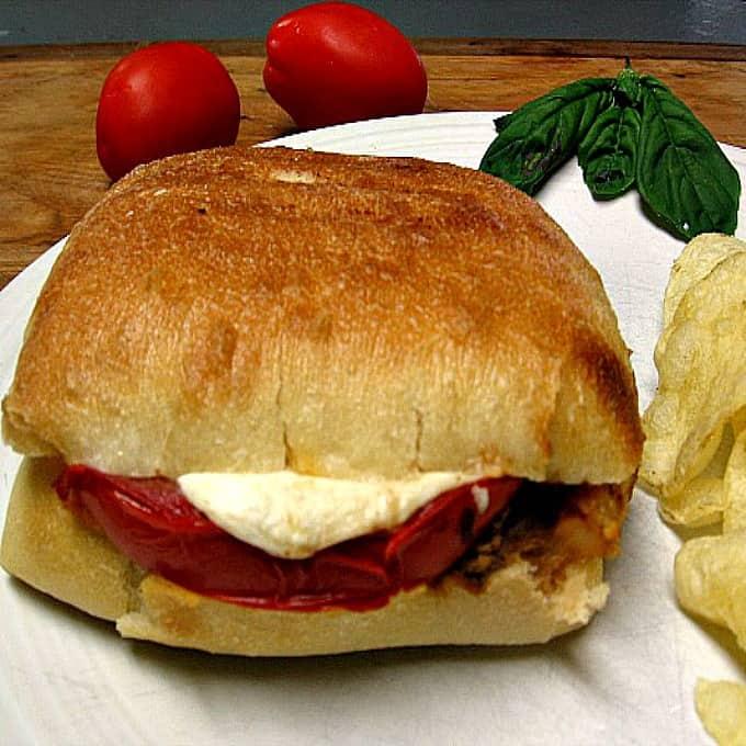 Grilled Caprese Chicken Sandwich