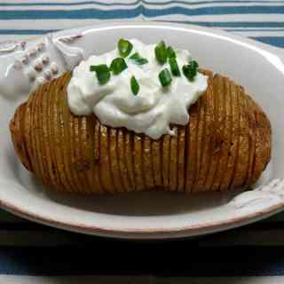 Grilled Hasselback Potatoes