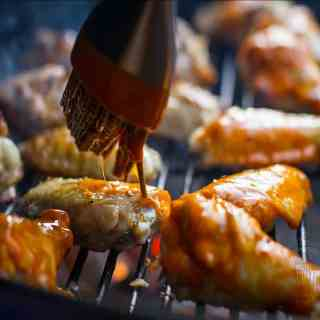 Saucing and Basting Wings