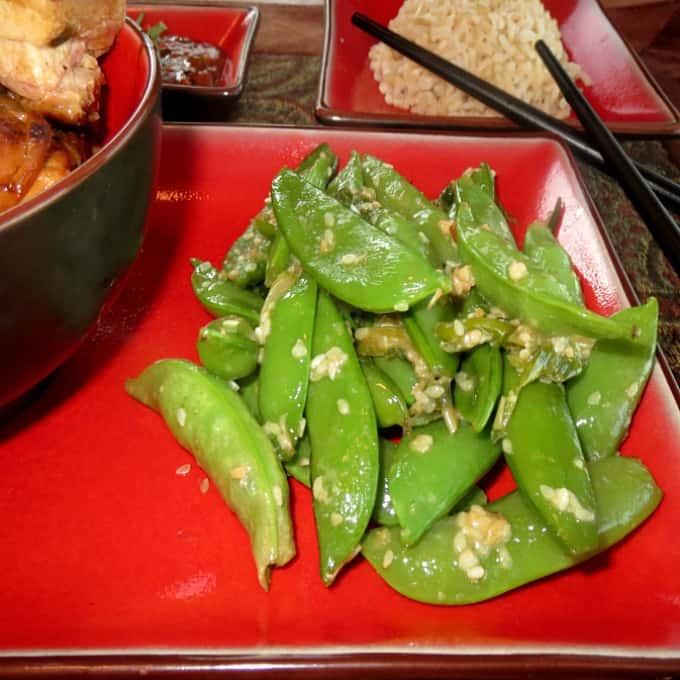 Korean Sugar Snap Peas