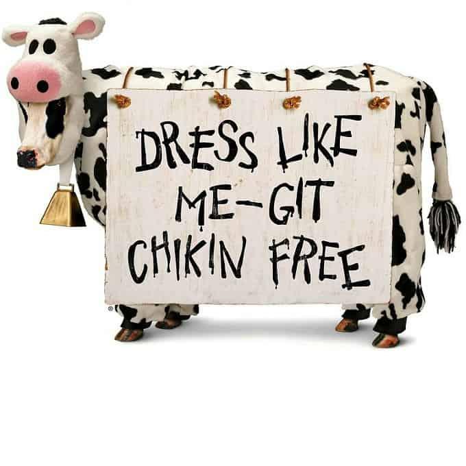 Dress like a cow