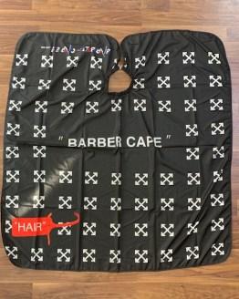 black barber cape