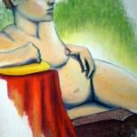 Girl -Conte Crayon Portrait