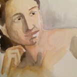 watercolor portrait, anonymous