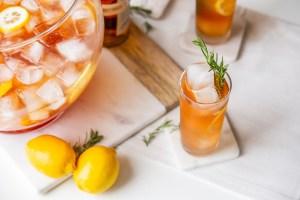 Basil Hayden's Lemon-Rosemary Punch Recipe patriots rams