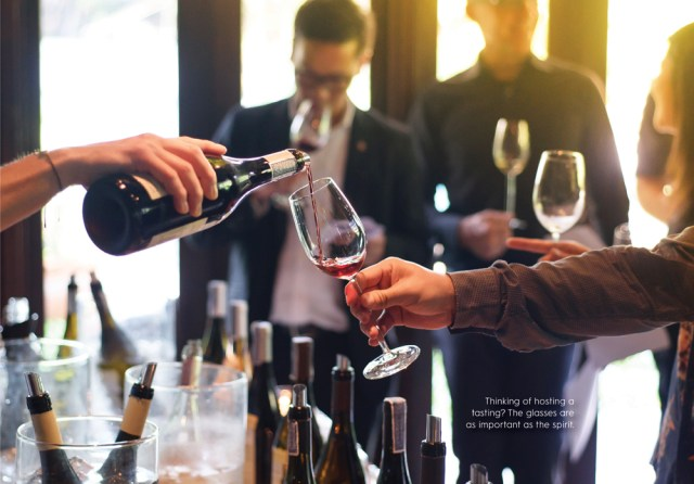 hospitality experts tasting wine and spirits
