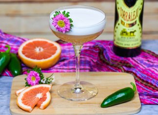 Corralejo Tequila Spicy Grapefruit Sour Cocktail Recipe