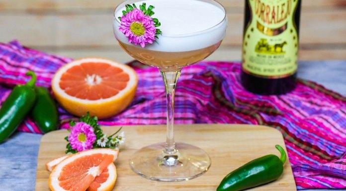 Corralejo Tequila Spicy Grapefruit Sour Cocktail Recipe