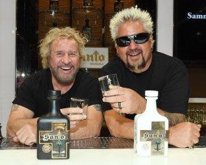 Sammy Hagar and Guy Fieri Santo Fino Blanco Tequila Los Santo Partnership