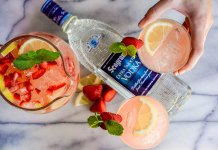 Seagram's Strawberry Mint Pink Lemonade Punch Recipe