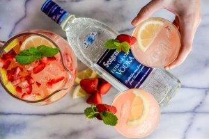 Seagram's Strawberry Mint Pink Lemonade Punch Recipe