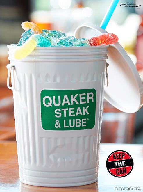 Quaker Steak & Lube Trash Can Drinks