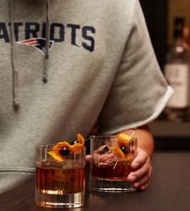New England Patriots Vanilla Old Fashioned cocktail recipe