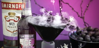 Smirnoff Ghoulish Grape Delight cocktail recipe