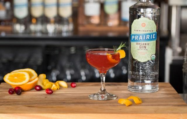 Prairie Cranberry Smash cocktail recipe