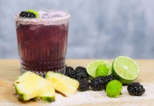Corralejo Tequila Pineapple & Blackberry Margarita cocktail recipe