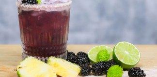 Corralejo Tequila Pineapple & Blackberry Margarita cocktail recipe