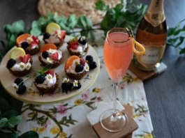 Korbel Grapefruit Mimosa mother's day cocktail recipe