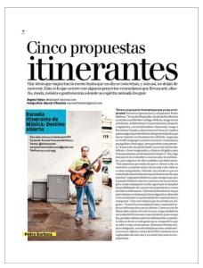 Press-BarbozaMusic_EiM- Escuela Itinerante de Música, Revista Todo en Domingo, El Nacional, Cinco propuestas Itinerantes, Profesor Pedro Barboza