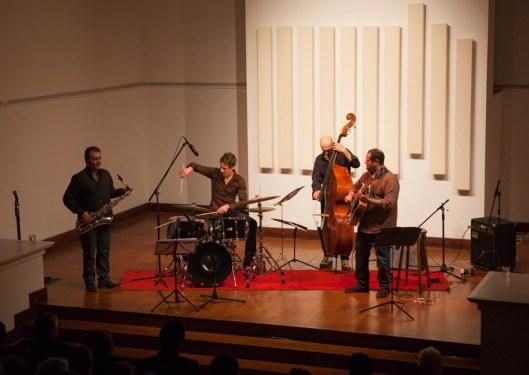 Pedro Barboza Cuarteto en el Bolivar Hall, con Gilles Grivolla, Lilian Bencina y Cedrick Bec. Londres UK.