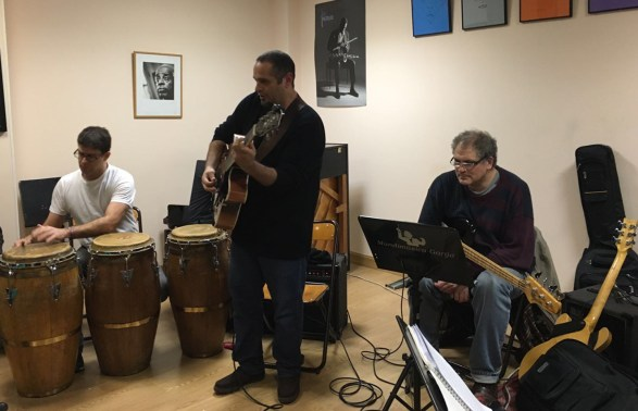 Pedro Barboza Trio en el Taller de Músicos, con Roberto Castillo y Guillermo Bazzola. Madrid, España.