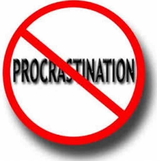 Image result for procrastinate no