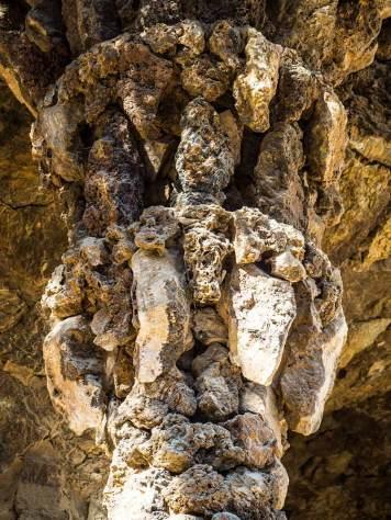 Natural stone column-head Park Guell