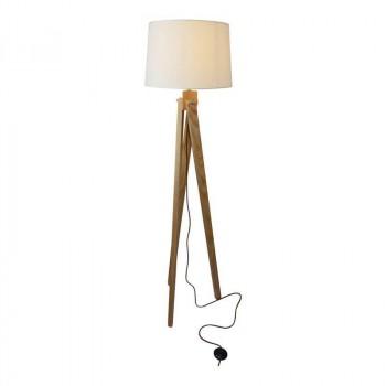 lampe led nashua sur trepied en bois e27 230v