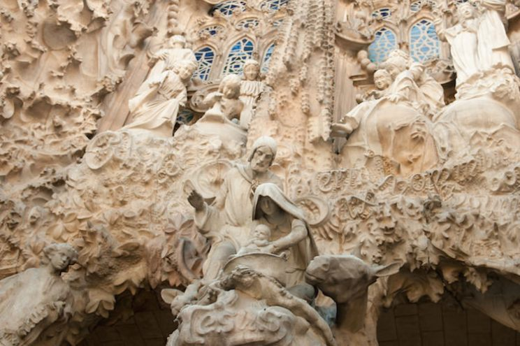 Sagrada Familia Façade geboorte Barcelona