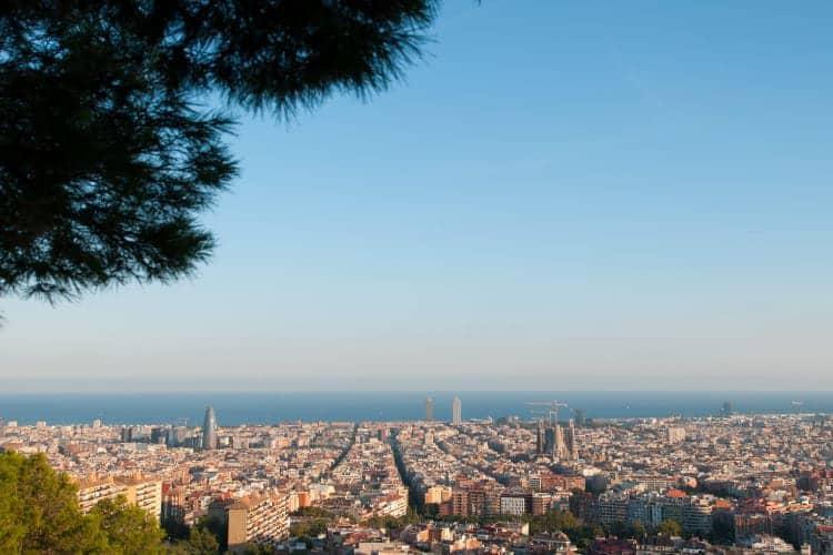 Uitzicht over heel Barcelona