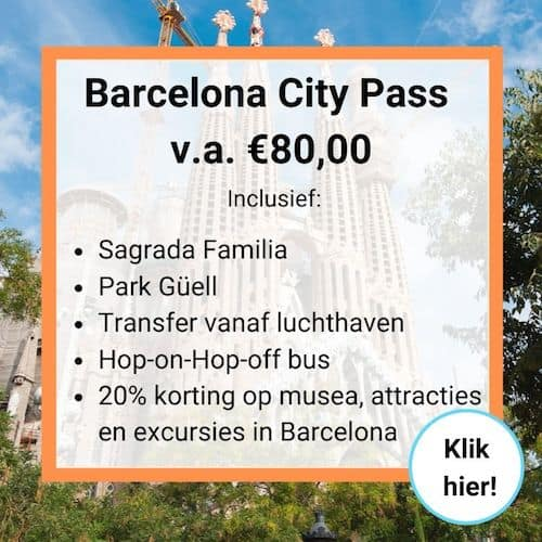 Banner Barcelona City Pass kortingskaart