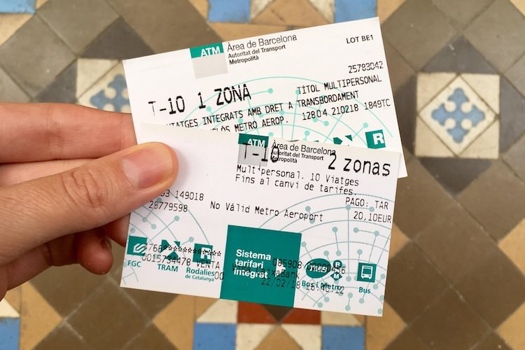tickets openbaar vervoer barcelona