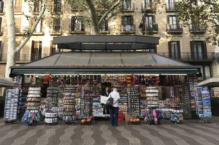 kiosk rambla barcelona