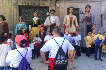 wijkfeest barcelona reuzen gegants