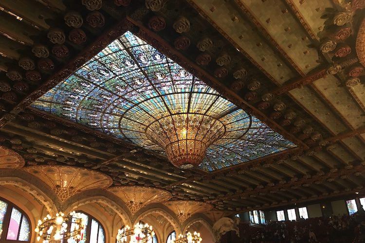 Dak glas in lood Palau Musica Catalana