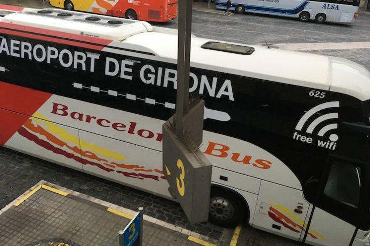 Bus vliegveld Girona Barcelona