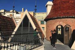 Het dak van Casa de les Punxes