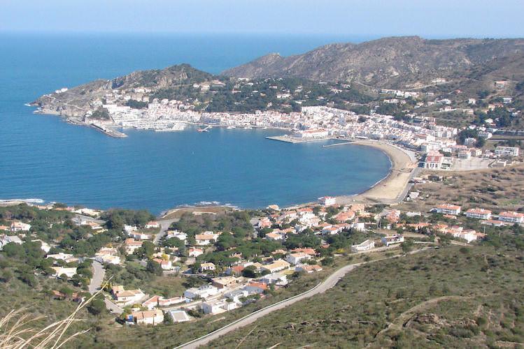 Uitzicht over de Costa Brava, Selva de Mar, in Catalonië