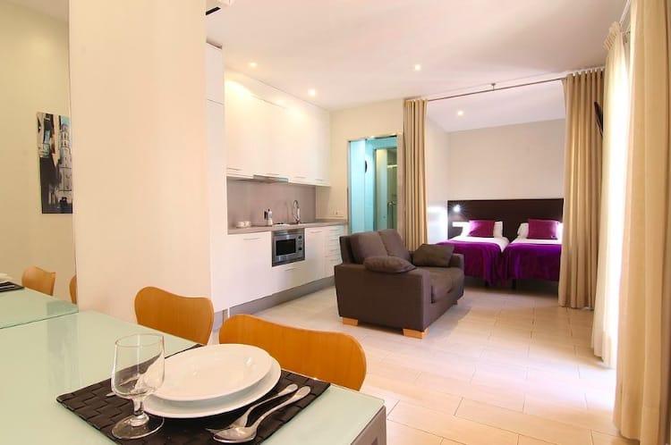 Appartementen aan het strand in Barcelona