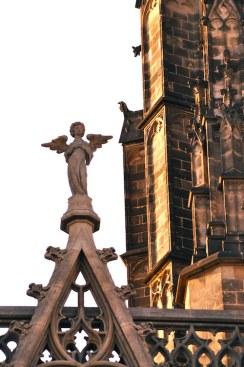 Detail van de kathedraal van Barcelona in de gotische wijk