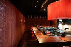 Rood, strak, modern, interieur