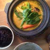 Curry in restaurant Green Spot in Barcelona