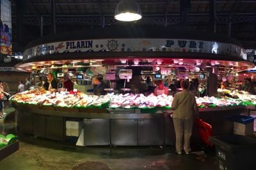 vis op de markt bij la boqueria