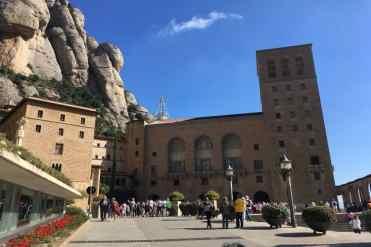 Buitenkant klooster Montserrat