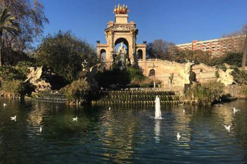 de fontein in Parc de la Ciutadella