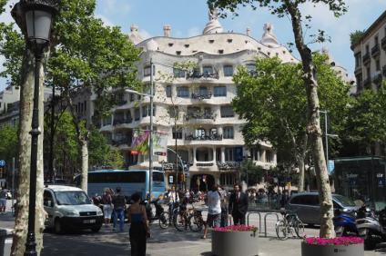Casa Mila aan de Passeig de Gràcia