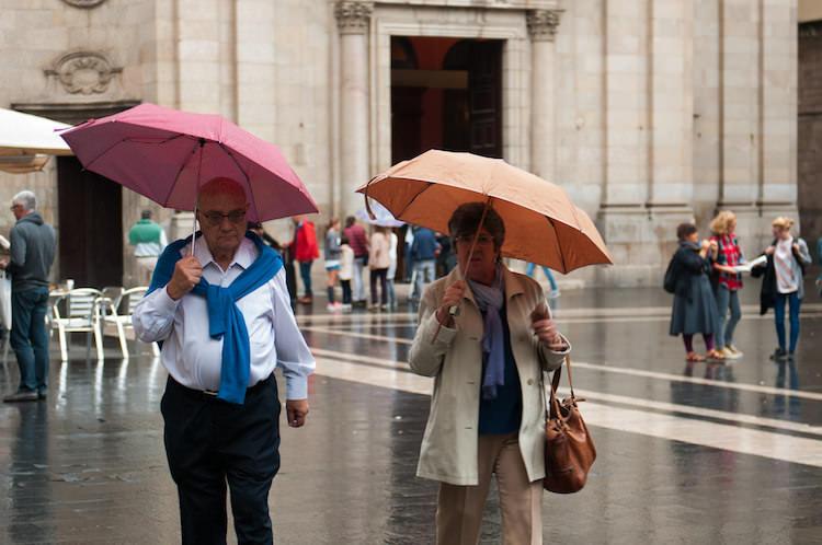 regen in Barcelona paraplu