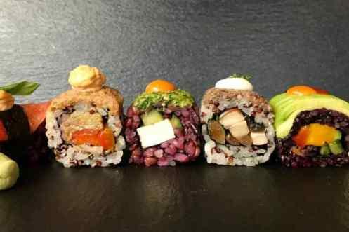 Vegan sushi Roots en Rolls