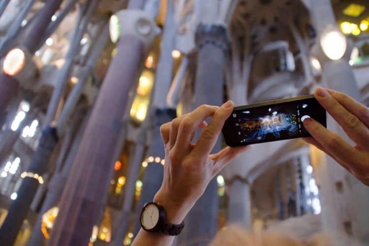 Binnenkant Sagrada Familia fotograferen